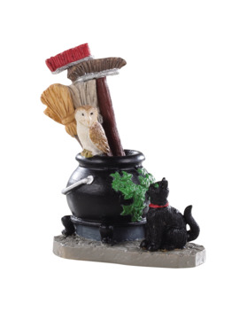 Lemax® Spooky Town® Cauldron Broom Holder by Lemax