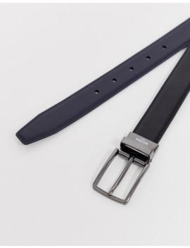Harry Brown Reversible Belt In Black/Navy by Asos