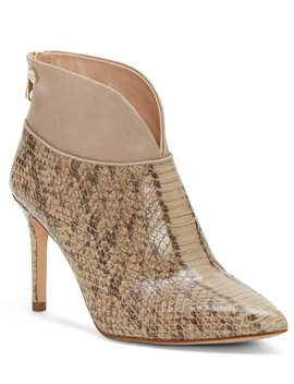 Sana Snake Print Leather Dress Booties by Louise Et Cie