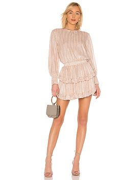 Katia Dress In Blush Stripe by Misa Los Angeles