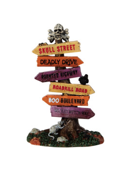 Lemax® Spooky Town® Scary Road Signs by Lemax