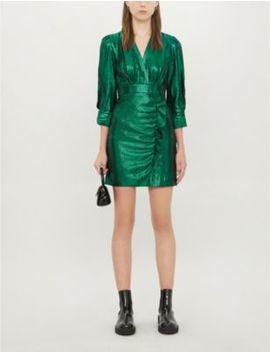 Rexy Woven Metallic Mini Dress by Maje