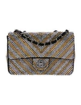 Swarovski Strass Chevron Flap Bag by Chanel