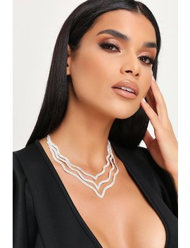 Silver Diamante Layer Necklace by I Saw It First