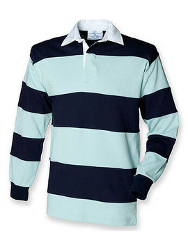 <Span><Span>Front Row   Mens Long Sleeve Striped Cotton Rugby Polo Shirt   Various Colours</Span></Span> by Ebay Seller