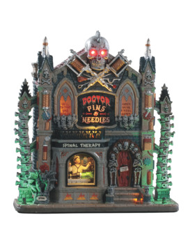 lemax-spooky-town-doctor-pins-&-needles by lemax