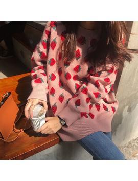 Strawberry Lazy Sweater by Dog Dog