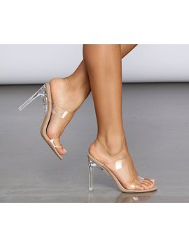 Clear Double Band Mules by Windsor