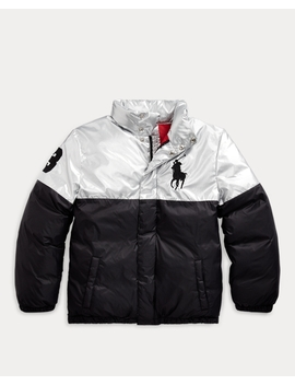 Polo Bear Foil Down Jacket by Ralph Lauren