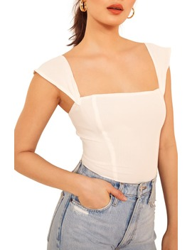 Paz Square Neck Top by Reformation