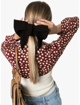 Black Oversized Bow Hair Clip by Wald Berlin