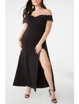 Plus Size Off The Shoulder Gown by Forever 21