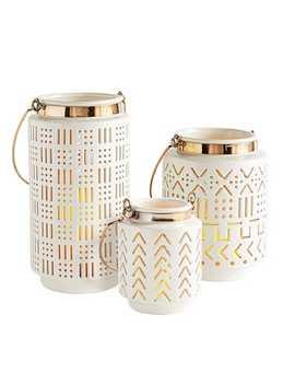 Emmy White Porcelain Lanterns by Pier1 Imports