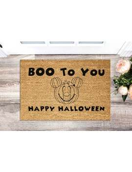 Halloween Decor   Halloween Doormat   Halloween Decorations   Halloween Door Mat   Halloween Gift   Disney Halloween   Disney Home Decor by Etsy