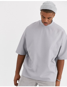 Asos Design Oversized T Shirt With Half Sleeve In Woven Fabric by Asos Design