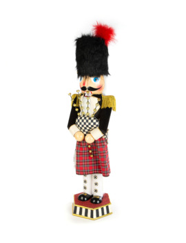 Bagpiper Nutcracker by Mac Kenzie Childs