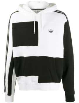 Colour Block Print Hoodie by Adidas