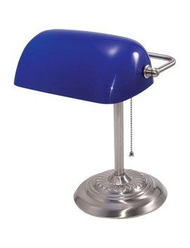 Ledu, Ledl557 Bl, Traditional Banker's Lamps, 1 Each, Blue by Ledu