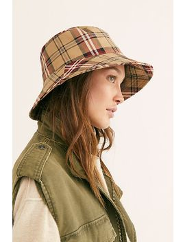Chaise Plaid Bucket Hat by Free People