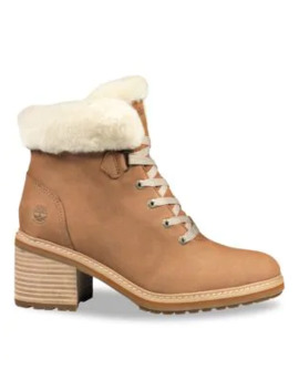 Sienna Shearling Trimmed Leather Hiking Boots by Timberland