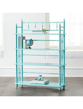Jenny Lind Teal Bookcase by Crate&Barrel