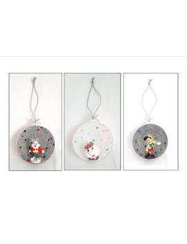 Handmade Glitter & Pearl Christmas Tree Hanging Decorations  With Disney Character Figures by Etsy