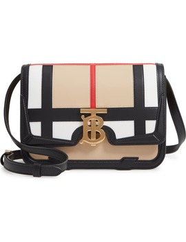 Small Tb Patchwork Leather Crossbody Bag by Burberry