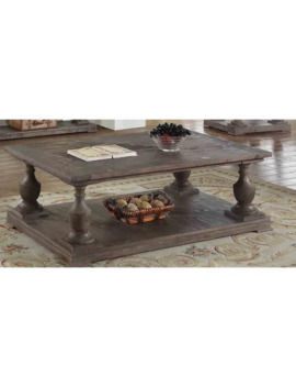 Best Master Furniture Oak Finish Pinewood Rustic Coffee Table by Generic