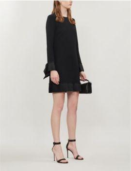 Ruffled Trim Crepe Mini Dress by Victoria Victoria Beckham