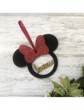Disney Inspired Personalised Minnie Mouse Bauble / Christmas Decoration by Etsy
