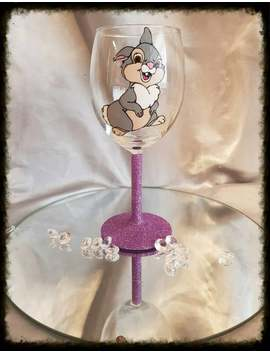 Disney / Thumper / Bambi / Hand Painted / Glitter Glass by Etsy