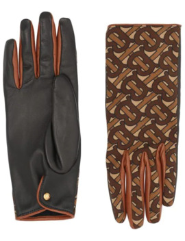 Cashmere Lining Monogram Print Gloves by Burberry