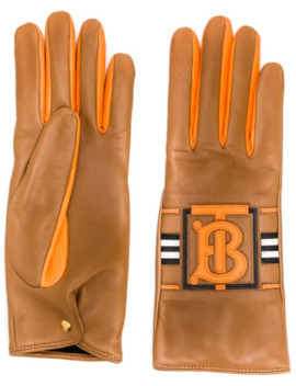 Tb Logo Gloves by Burberry