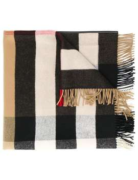 Check Print Scarf by Burberry