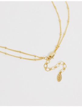 Astrid & Miyu – Kurze 14 Karätig Vergoldete Halskette Mit Mythischen Kreuzanhänger by Asos
