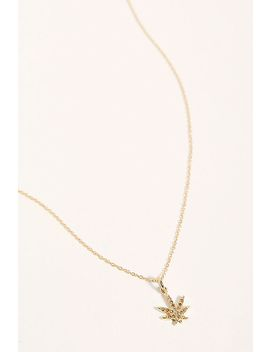 14k Diamond Sweet Leaf Pendant by Feathered Soul