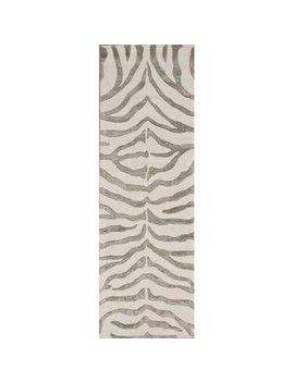 Nu Loom Hand Tufted Plush Zebra Area Rug Or Runner by Nu Loom