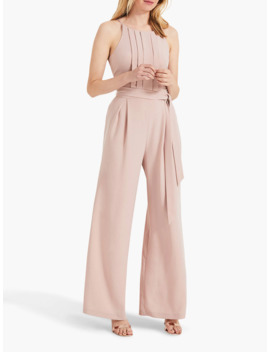 Phase Eight Yvonne Lace Back Jumpsuit, Dusty Rose by Phase Eight