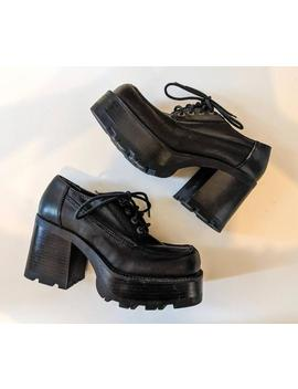 Vintage 1990's Classic Black Candie's Platforms Size Us 6 by Etsy