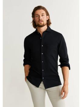 Slim Fit Pocket Cotton Shirt by Mango