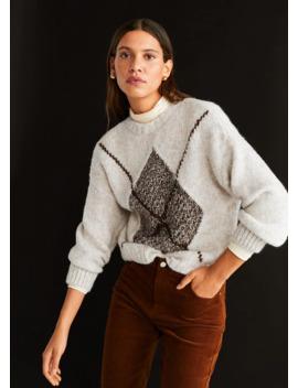Rhombus Knit Sweater by Mango