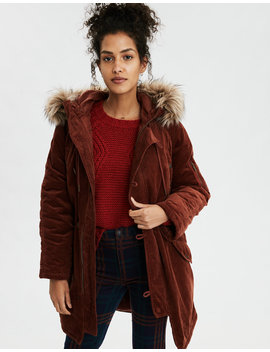 Ae Corduroy Parka by American Eagle Outfitters
