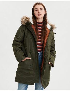 Ae Satin Parka by American Eagle Outfitters