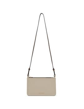 Beige Colorblock Shoulder Bag by Marni