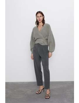 Soft Touch Pleated Pants by Zara