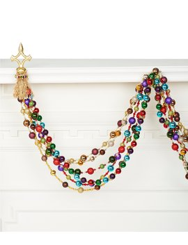 Crescent City Christmas Collection Mardi Grass 9.75 Ft. Beaded Garland by Trimsetter