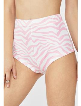 Candyfloss Pink Zebra Hot Pants by Elsie & Fred