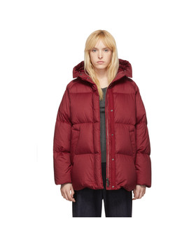 Red Down Nerum Jacket by Moncler