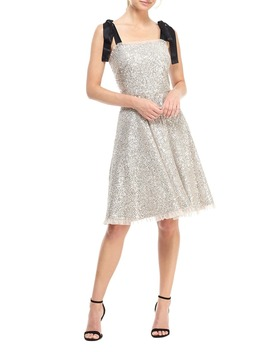 Diana Sequin Cocktail Dress With Satin Shoulder Ties by Gal Meets Glam Collection
