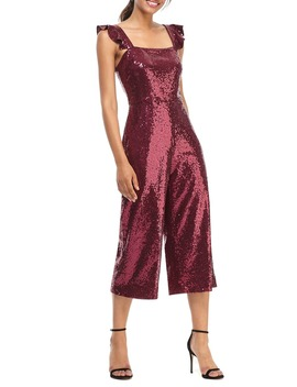 Casey Sequin Ruffle Strap Jumpsuit by Gal Meets Glam Collection